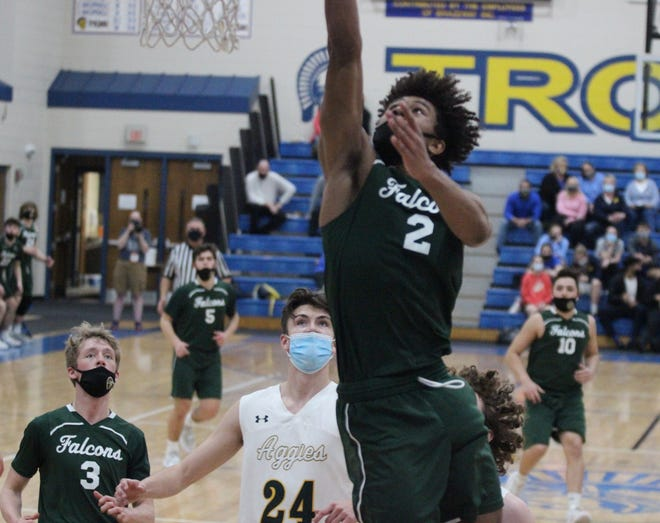 Cyrus Marks of St. Mary Catholic Central scored a career-high 26 points against Sand Creek Thursday night.