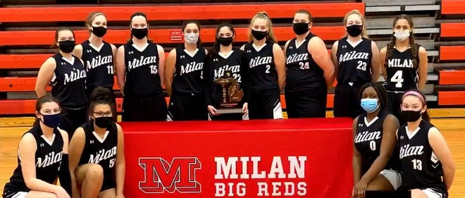 Milan was crowned the champion of the Division 2 Girls Basketball District it was hosting after Dundee had to withdraw because of COVID-19 contact tracing.