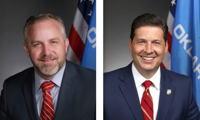 Senate Pro Tem Greg Treat (left) and Sen. Shane Jett