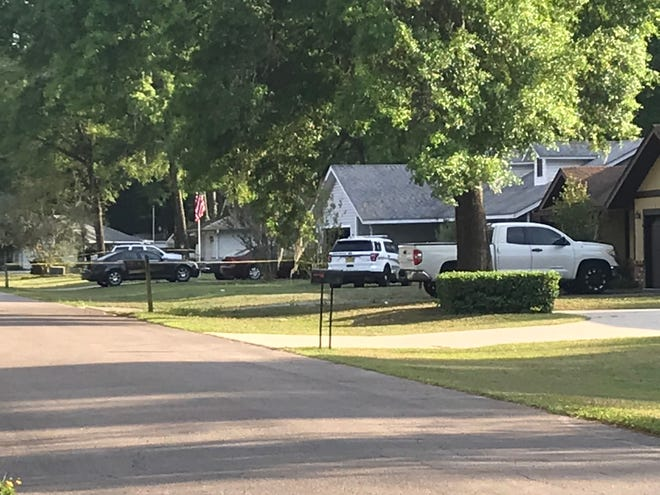 This was the scene Friday evening as the Marion County Sheriff's Office investigated a homicide in the Hidden oaks subdivision in SW Marion. The agency said there is no public safety threat at this time.