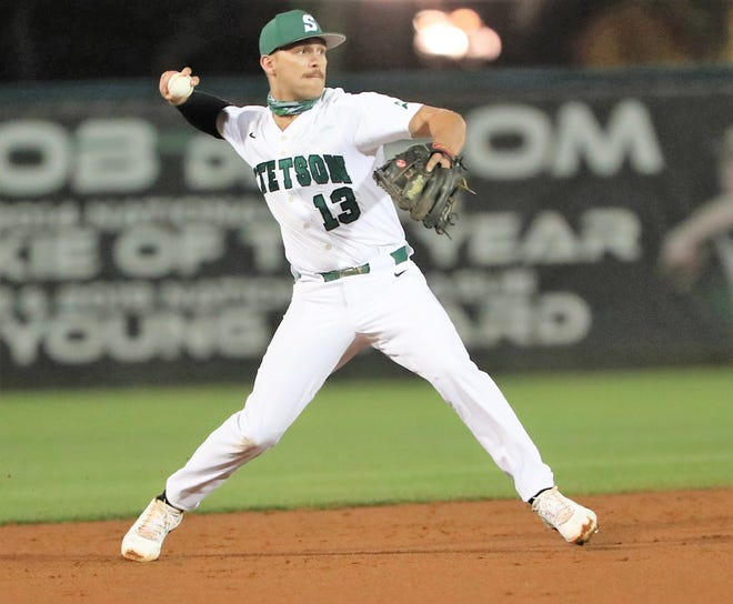Kyle Ball, a 2017 graduate of Exeter High School, has become a defensive wizard with the Stetson University baseball team.
