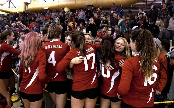 In their memorable 2019 season that saw them reach the Division III finals, the Block Island girls volleyball team routinely did overnight stays after games. COVID guidelines prevent them from doing so this season, which caused a quirk with a match Friday.