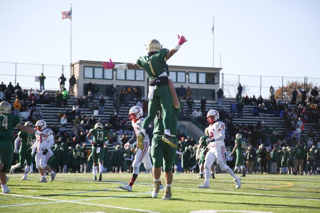 With the return of high school football, Eric Rueb is willing to celebrate in similar fashion if he can find the right person to lift him in the air.