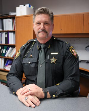 Portage County Sheriff Bruce Zuchowski sits at his desk at the Portage County Justice Center.