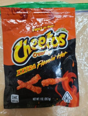 School resource officers in Sarasota County posted pictures online of marijuana-derived products that were packaged in counterfeit bags and passed off as a Cheetos variety.