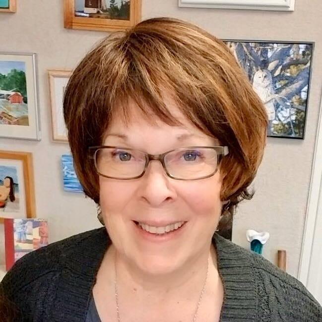 Johnson volunteering at The Alberta Art Gallery's Gift Shop in 2019.