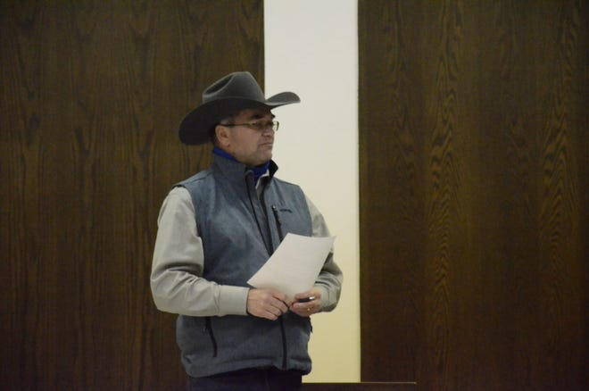 International Finals Youth Rodeo (IFYR) Event Director Dale Yerigan gives an update to the Shawnee Civic and Cultural Development Authority Board Thursday.