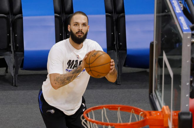 Evan Fournier's outside shooting ability may be valuable to the Celtics in fourth-quarter situations.