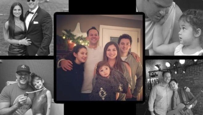 A photo collage from a GoFundMe page shows Worcester Police Officer Iggy Garcia with his family.