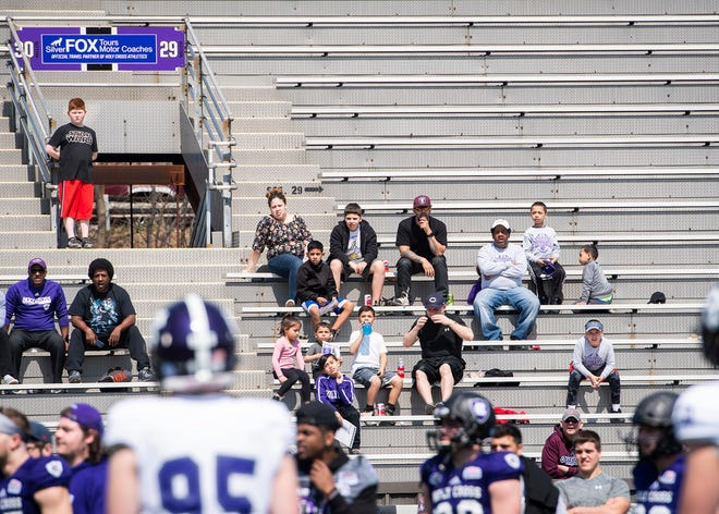 There will be some fans in the Fitton Field stands Saturday when Holy Cross hosts Fordham.