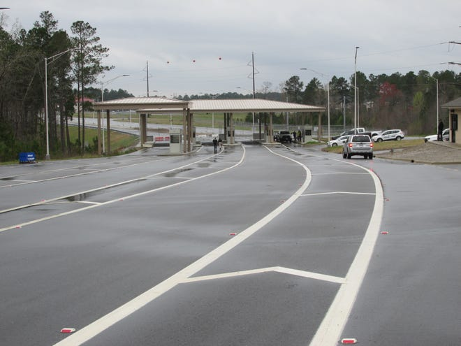 The Canopy Lane access control point opened to inbound and outbound traffic March 29, 2021.