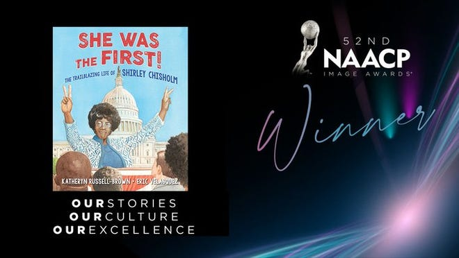 """University of Florida law professor Katheryn Russell-Brown won the 2021 NAACP Image Award for outstanding children's literature on Monday for her biography, """"SHE WAS THE FIRST! The Trailblazing Life of Shirley Chisholm."""""""