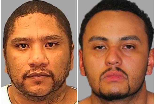 Abraham Curry (left) and Damion Morgan (right) are being sought by the Southern Colorado Safe Streets Task Force