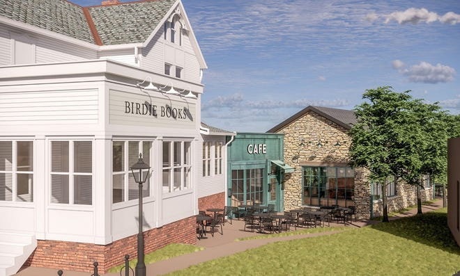 This rendering shows how the Birdie Books & Café at 86 and 90 N. State St. in Uptown Westerville will appear. The Westerville Planning Commission approved the plan March 25.