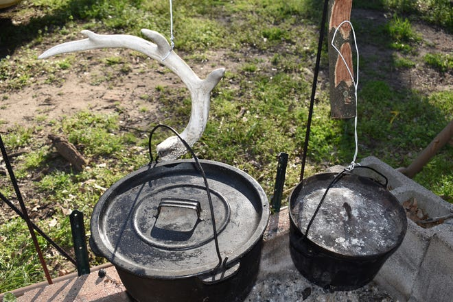 Luke has been cooking with cast iron for most of his adult life. He first began using the old kettle on the right in the late sixties when his uncle presented it to him for a birthday present.