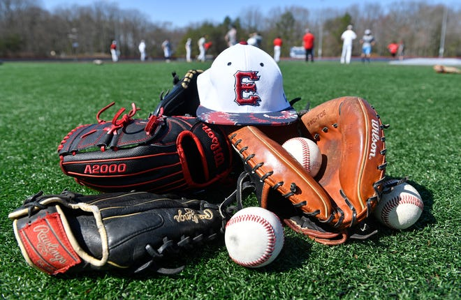 Eastern High School pitchers and catchers reported to baseball practice Friday for the first time this season. There was no season last year due to COVID-19. Mar. 26, 2021.
