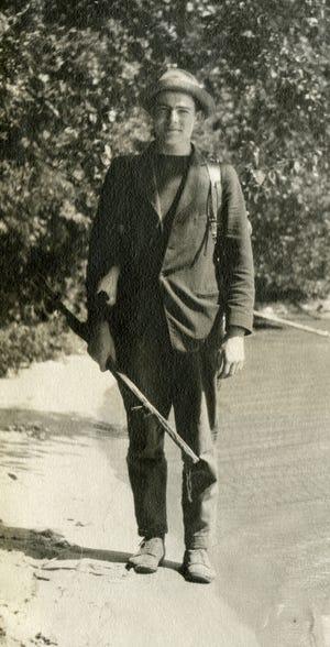 Ernest Hemingway in 1916 northern Michigan.