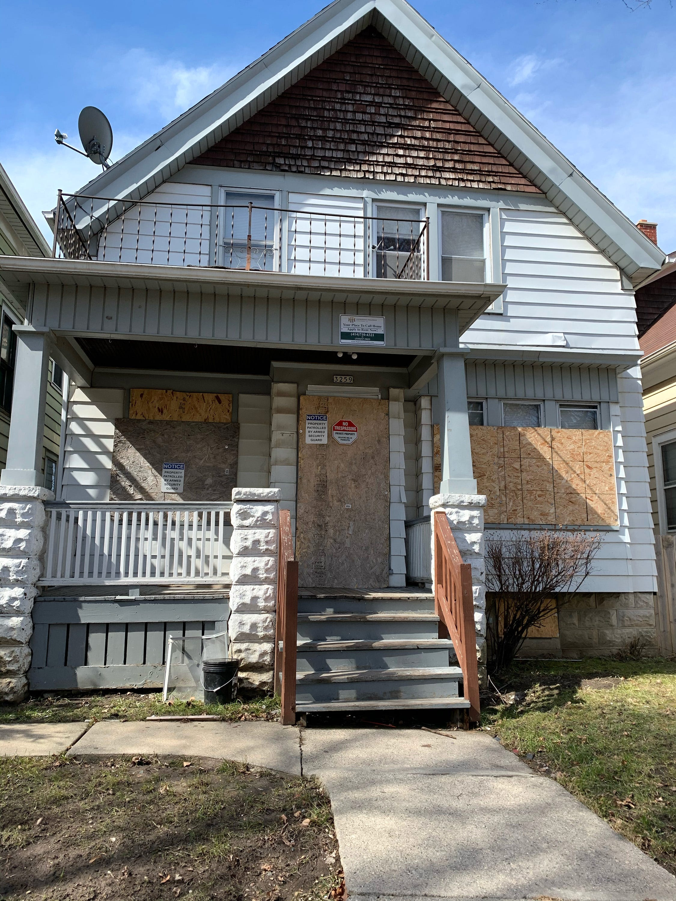 This house on the  3200 block of North Buffum Street recently acquired by an affiliate of Highgrove Holdings Management LLC, Torrance, California. Highgrove plans to renovate and rent it out. Highgrove has acquired about 135 properties in Milwaukee, including about a half-dozen on this block.