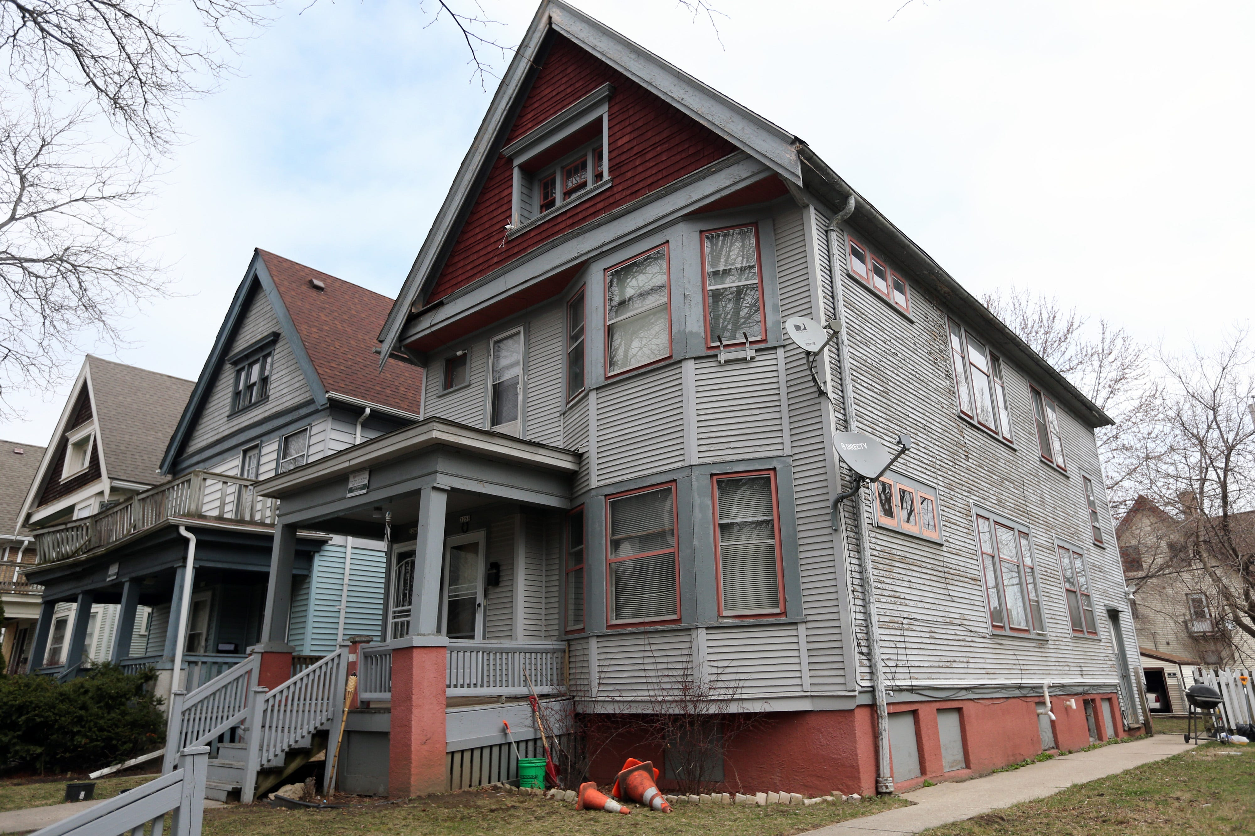 Sylvester Norwood's unit on North Buffum Street is seen on Friday, March 26, 2021. He been renting this unit for several years. A California company bought it last year.