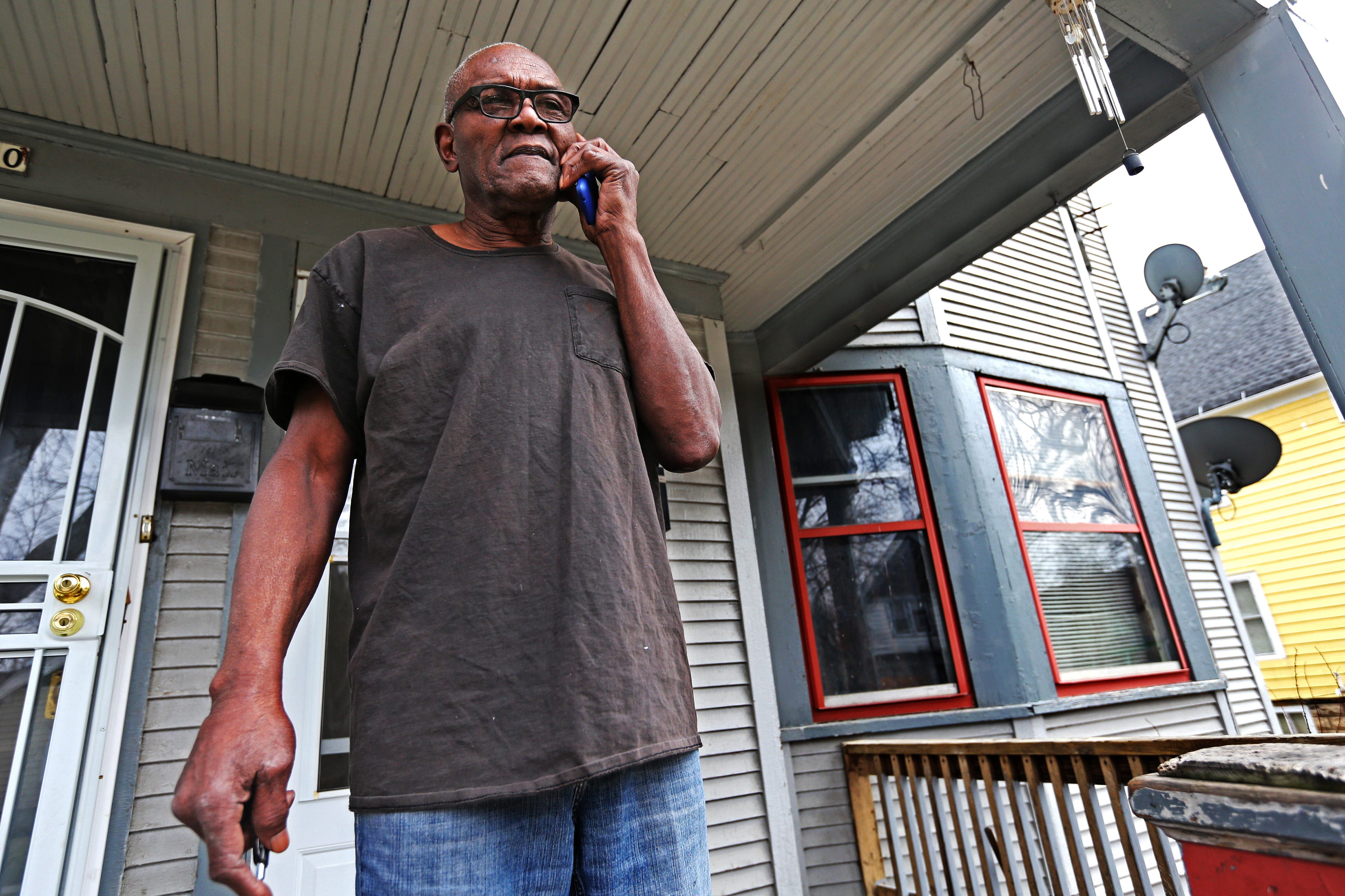 Sylvester Norwood, 78, has been renting this unit for several years on North Buffum Street. A California company bought it last year. The company is fixing up properties that are vacant, but is doing little for places like Norwood's that are occupied.