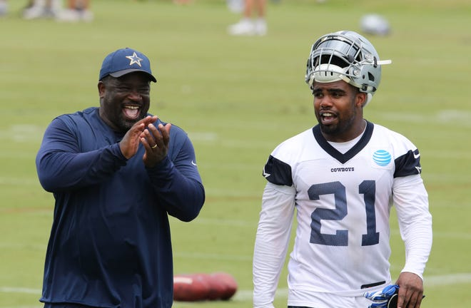 Gary Brown worked with Ezekiel Elliott during his tenure as running backs coach for the  Dallas Cowboys from 2013-19.