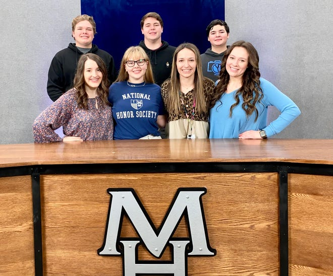 Mountain Home High School EAST Initiate students recently won three competitions at the 2021 EAST Conference. Those students include (top row from left) Nathan Williams, Zachary Spaulding, Joshua Dodson, (bottom row, from left) Lauren Dewey, Audrey Young, Sadie Quick and Sophie Quick.