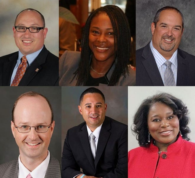 Six candidates are vying for the position of Polk County's next schools superintendent.