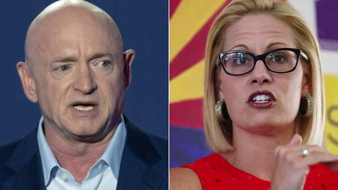 Both Mark Kelly and Kyrsten Sinema have been hawkish about the border and pushing back against the Biden administration.