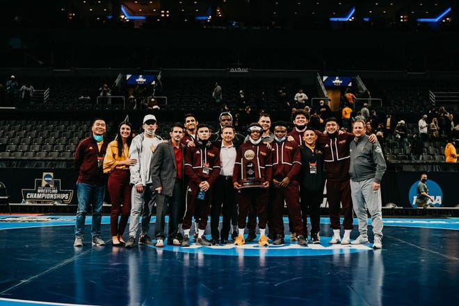Arizona State wrestling finished fourth at the NCAA Championships, earning its first team trophy since 1995.