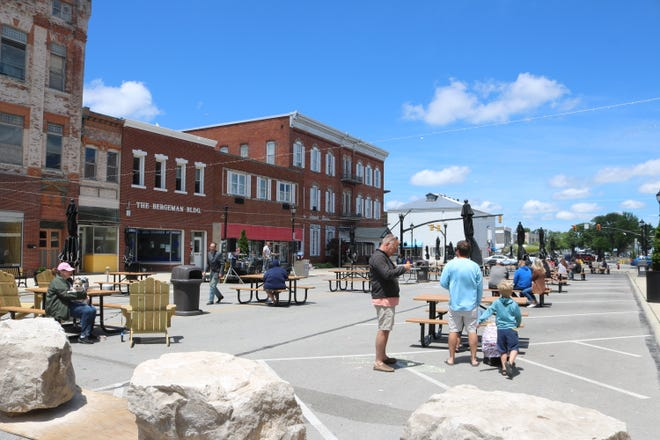 Meals on Madison, referred to as M.O.M. for short, where the 100 block of Madison Street in Port Clinton is cordoned off to be used as an outdoor recreational and dining space for downtown patrons, is scheduled to return on Monday, May 3.