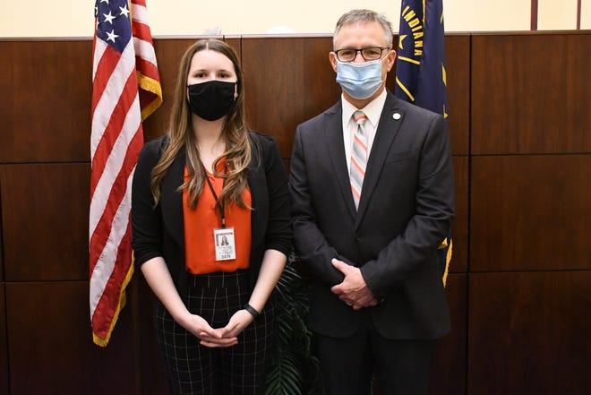 Centerville native Anna Schuler is an intern this legislative session for State Sen. Jeff Raatz.