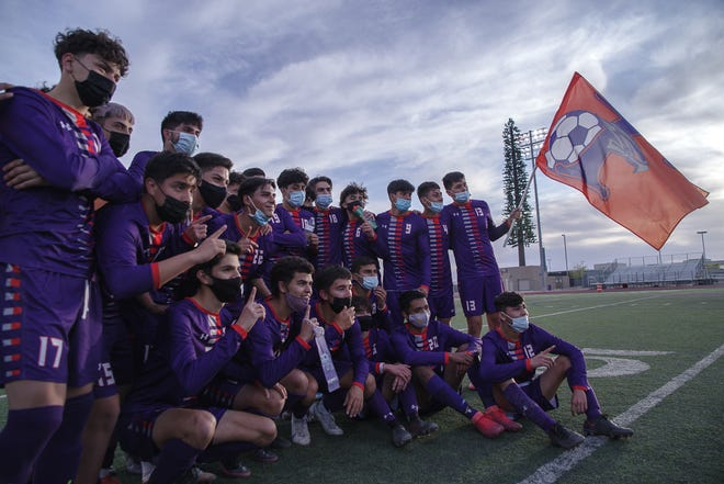 Eastlake High School's varsity boys soccer team defeated Odessa 5-0 to win the Class 6A bi-district championship at Eastlake High School on March 25, 2021.