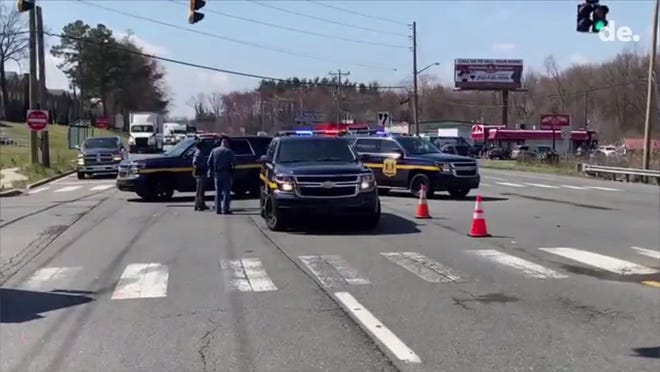 State police is investigating a crash Friday on U.S. 13 in the area of Llangollen Blvd.  Details on the accident were not readily available.  Video provided by John J. Jankowski Jr.  3/26/21