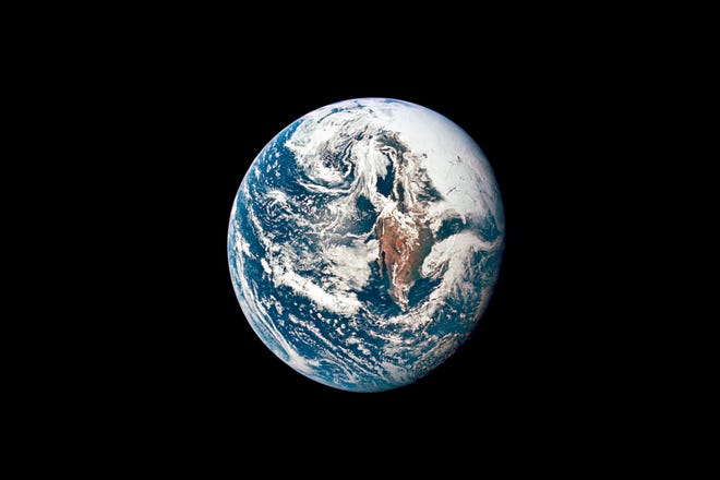 This May 18, 1969, photo shows Earth as photographed from the Apollo 10 spacecraft during its journey toward the moon. Earth Day is Thursday April 22, 2021.