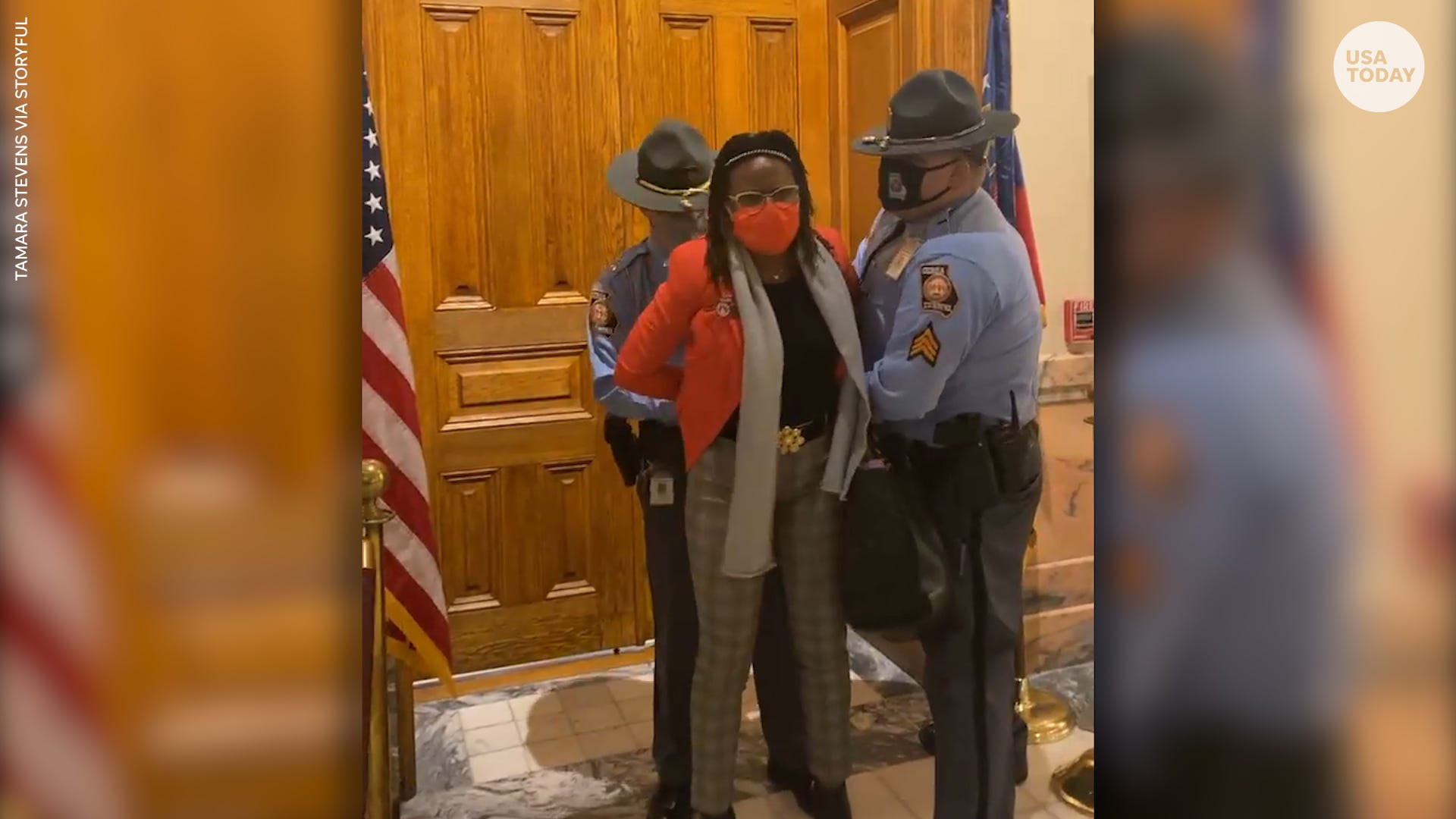 Georgia lawmaker arrested, dragged while governor signed GOP-sponsored voting bill