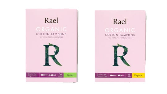 Organic sanitary products are super accessible at Rael.
