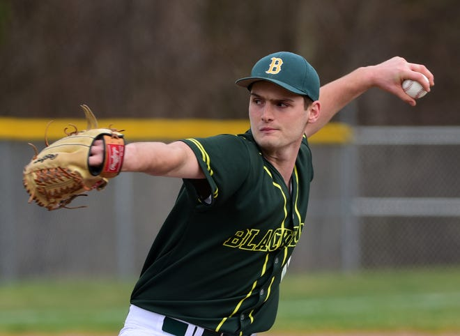 Blackhawk's Alex Tomsic pitched a complete game for a 2-1 win over West Allegheny in the season opener. Coaches will have to juggle pitching a lot more thanks to a new wrinkle to baseball schedules this season.