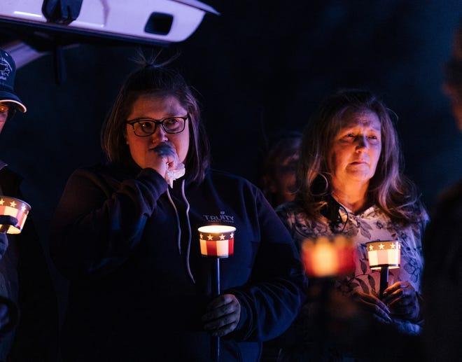 A vigil for fallen Washington County Sheriff Deputy Kyle Davis was held Friday night at Copan High School.