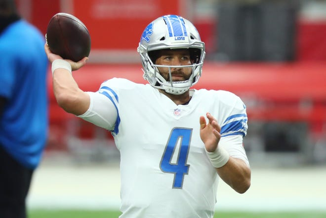 Detroit Lions quarterback Chase Daniel (4) throws a pass prior to a game against the Arizona Cardinals on Sept. 27 at State Farm Stadium in Glendale, Ariz. The former Missouri star has agreed to terms on a one-year deal with the Los Angeles Chargers.