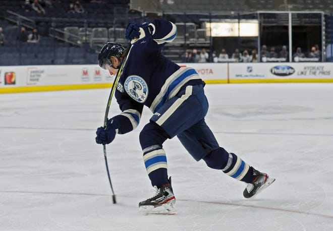Patrik Laine's powerful slap shot has been largely quiet in his two months with the Blue Jackets, and the former No. 2 draft pick has only one goal in the past 14 games.
