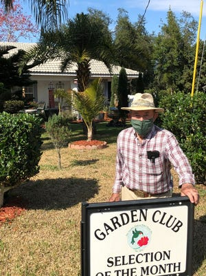Jim Lyman's yard was named the April Selection of the Month by the Garden Club at Palm Coast.