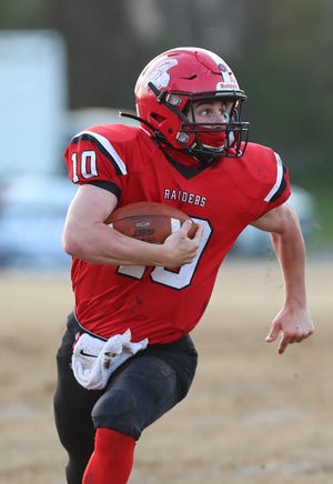 South Point's Will Rhinehart looks for room to run during a game earlier this season.