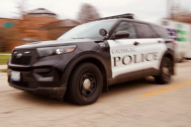 A Galesburg Police Department utility vehicle passes by the Public Safety Building. For the first time in several years, the Galesburg Police Department has released an annual report on its activities in 2020.