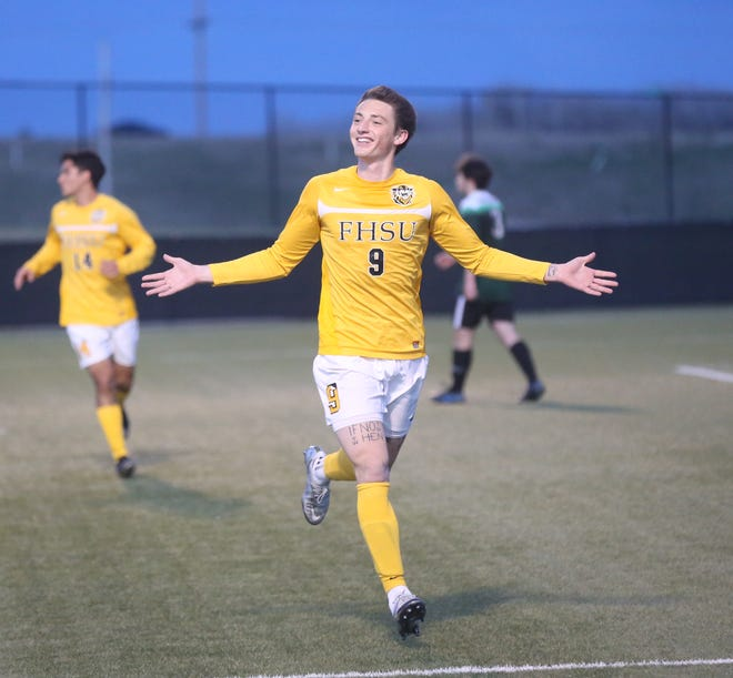 Fort Hays State's Blake Arndt was named Offensive Player of the Year and Newcomer of the Year on the All-GAC men's soccer team released Friday.