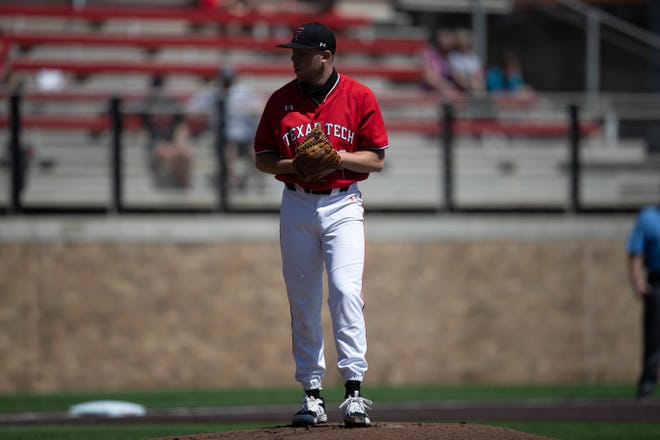 Texas Tech's Patrick Monteverde gets ready to throw a pitch during a nonconference game Saturday against South Florida at Dan Law Field at Rip Griffin Park. Monteverde struck out nine, a career-high for him in a Red Raider uniform.