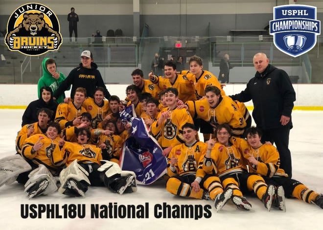 The Junior Bruins 18-and-under team won a United States Premier Hockey League tournament earlier this month in Pennsylvania.