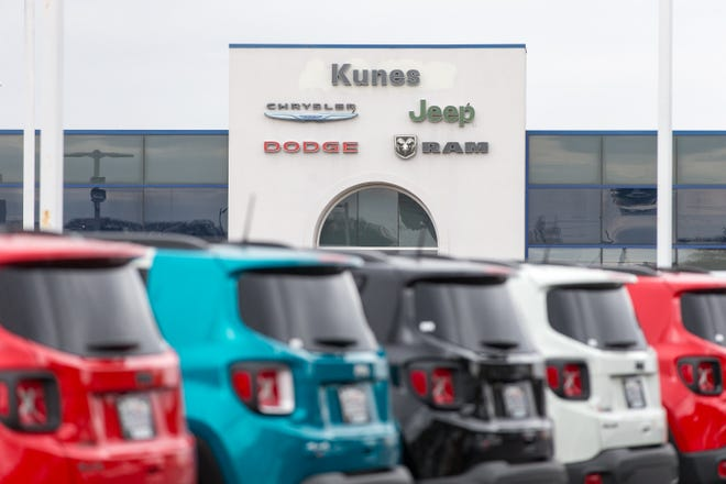 Kunes Chrysler Jeep Dodge Ram & Fiat, shown here on Saturday, March 27, 2021, is located at 1615 N. State St. in Belvidere.