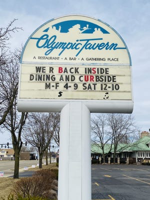 The Olympic Tavern, 2327 N. Main St., in Rockford announced Saturday that it has temporarily closed after several employees tested positive for COVID-19. The restaurant will be closed until at least April 5.