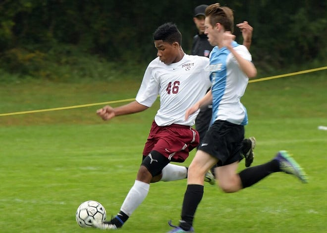 Shawn Chambers (46) has been a force for Doherty as a central midfielder.