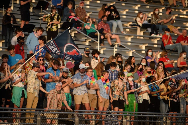 Pine Forest at Terry Sanford football game on Friday, March 26, 2021.